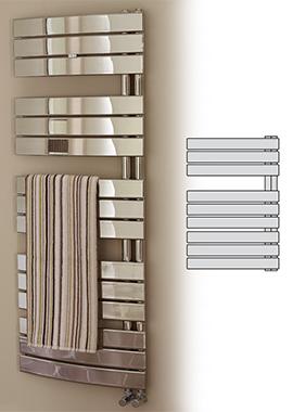 Related Prism Designer Chrome Curved Towel Warmer 550 x 1380mm