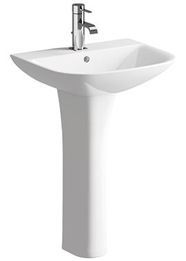Related Evo 560mm 1 Tap Hole Basin With Full Pedestal