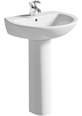 Related Ideal 600mm Basin With Full Pedestal