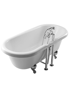 Related Summit 1685 x 745mm Double Ended Freestanding Bath With Feet