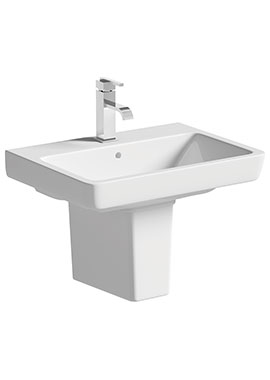 Related Vanilla 600mm 1 Tap Hole Basin With Semi Pedestal