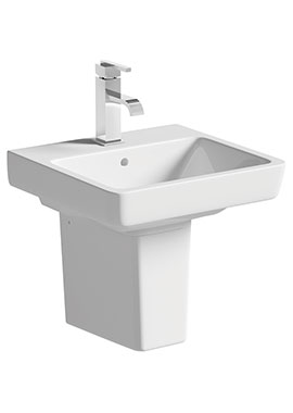 Related Vanilla 450mm 1 Tap Hole Basin With Semi Pedestal