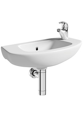 Related Smart 520mm Wall Hung Side Tap Basin With Bottle Trap