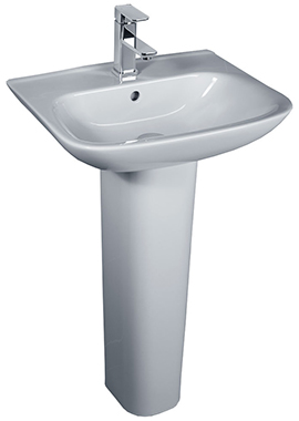 Related Glaze 520mm 1 Tap Hole Basin And Full Pedestal