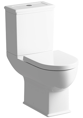 Related Porto Comfort Height Close Coupled WC With Soft Close Seat