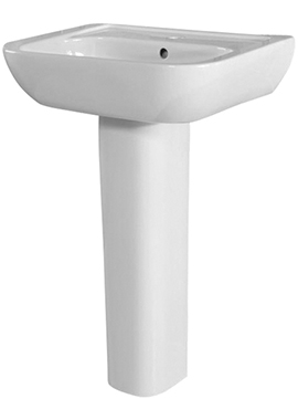 Related Adore 550mm 1 Tap Hole Basin And Full Pedestal