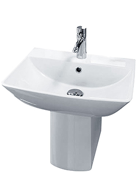 Related Rose 500mm 1 Tap Hole Basin And Half Pedestal
