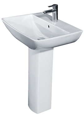 Related Rose 600mm 1 Tap Hole Basin And Full Pedestal