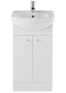 Related Majestic Gloss White Vanity Unit 450mm