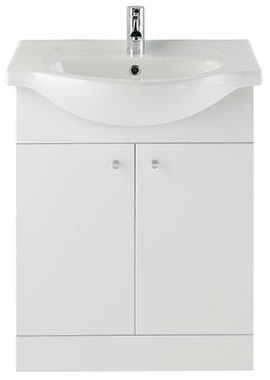 Related Majestic Gloss White Vanity Unit 650mm