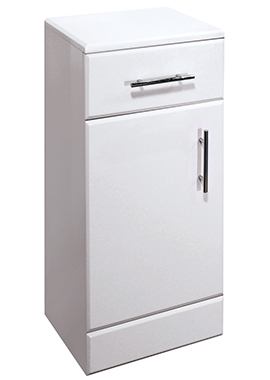 Related Chill Floor Standing 350mm White Cupboard Unit With Drawer And Door