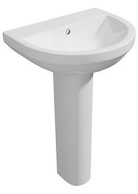Related Crystal 500mm 1 Tap Hole Basin And Full Pedestal