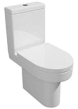 Related Crystal Close Coupled WC Pan With Cistern And Soft Close Seat 620mm