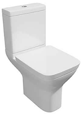 Related Wove Close Coupled WC Pan With Cistern And Soft Close Seat 595mm