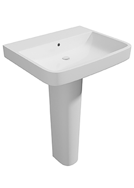 Related Hello 550mm 1 Tap Hole Basin And Full Pedestal