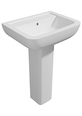 Related Status II 550mm 1 Tap Hole Basin And Full Pedestal