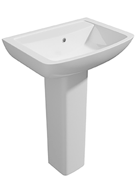 Related Signature 550mm 1 Tap Hole Basin And Full Pedestal