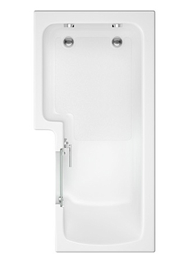 Related L Shape Solarna Walk-in Shower Bath With Screen 1700 x 850-700mm
