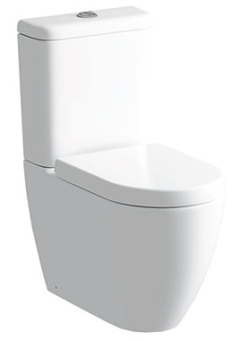 Related Cigna Close Coupled WC Pan And Cistern With Soft Close Seat