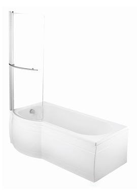 Related Porto Slim Fit P Shape LH Shower Bath 1675 x 700mm With Screen
