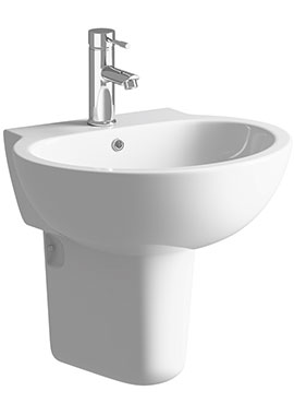 Related Cream 530mm 1 Tap Hole Basin With Semi Pedestal