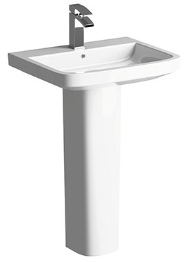 Related Modest 550mm 1 Tap Hole Basin With Full Pedestal