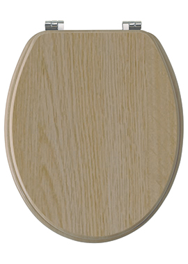 Related Ariva Light Oak Wood Effect Soft Close Toilet Seat