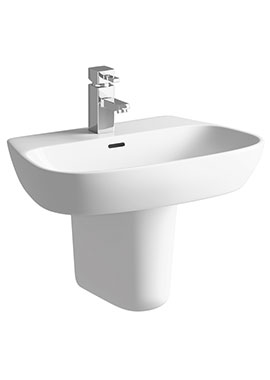 Related Balli 600mm 1 Tap Hole Basin With Semi Pedestal