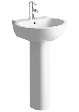 Related Vicki 535mm 1 Tap Hole Basin With Full Pedestal