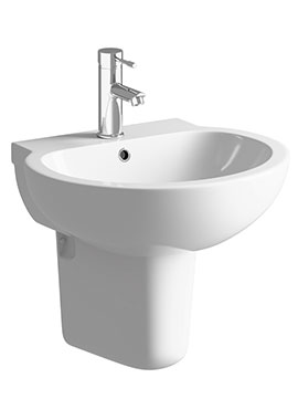 Related Vicki 535mm 1 Tap Hole Basin With Semi Pedestal
