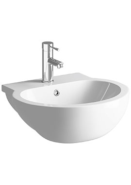 Related Vicki 540mm 1 Tap Hole Semi Recessed Basin