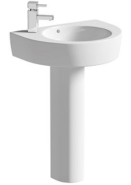 Related Lux Realty 550mm 1 Tap Hole Basin With Full Pedestal