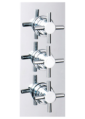 Related Cassellie Triple Crosshead Concealed Thermostatic Shower Valve