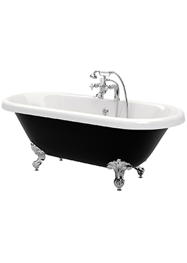 Related Brize Black Double Ended Freestanding Bath 1690 x 740mm