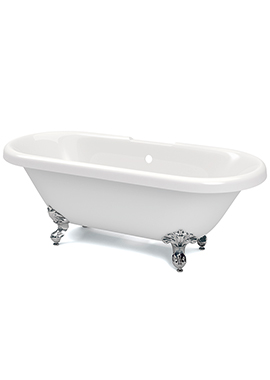 Related Brize White Double Ended Freestanding Bath 1690 x 740mm
