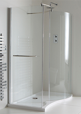 Related Champlain II Curved Walk-In Shower Enclosure 1350 x 900mm