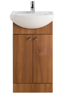 small vanity unit with sink. Majestic Walnut Vanity Unit 450mm Small Bathroom Units  Compact Furniture Range Bathrooms 365