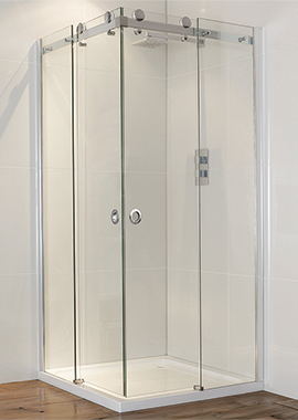 Related Champlain II Frameless Corner Entry Shower Enclosure 900mm