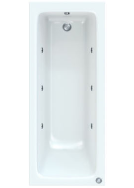 Related Savoy 1700 x 700mm Bath With Wellness Whirlpool Star Buy System