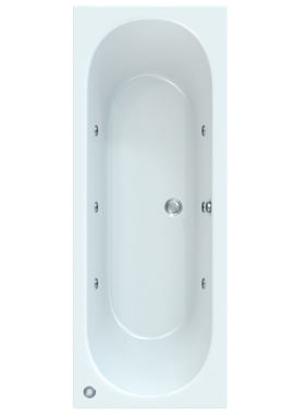 Related Quantica 1600 x 750mm Bath With Wellness Whirlpool Star Buy System