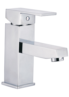 Related Cube Mono Basin Mixer Tap With Click Waste