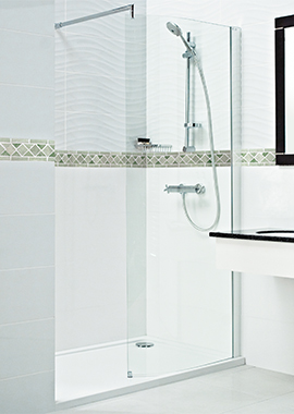Related Champlain II 800mm Curved Wetroom Front Shower Panel