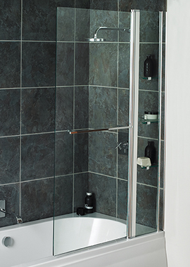 Related Avada Fixed Bath Screen With Shelves 1000 x 1500mm