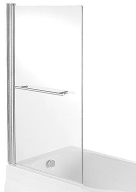 Related Avada Single Bath Screen With Rail 825 x 1400mm