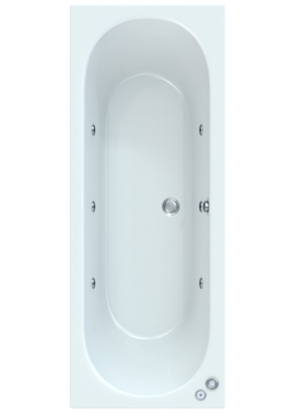 Related Quantica 1700 x 700mm Bath With Wellness Whirlpool System Including Lights