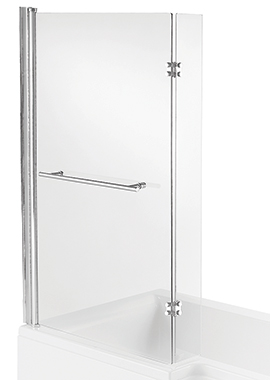 Related Manhattan L Shape Bath Screen 815 x 1400mm