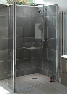 Related Mist 6 1000mm Wetroom Shower Panel With 300mm Rotatable Panel