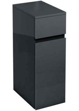 Related Aqua Cabinets D450 Black 300mm Floor Standing Triple Drawer Unit