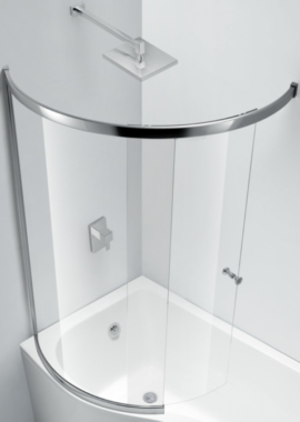 Related Champlain Fully Enclosed Sliding C Shape Bath Screen 874 x 1500mm