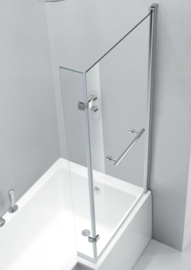 Related Pure L Shaped Bath Screen 850 x 1500mm